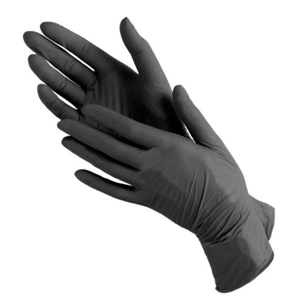 Перчатки нитриловые черные купить