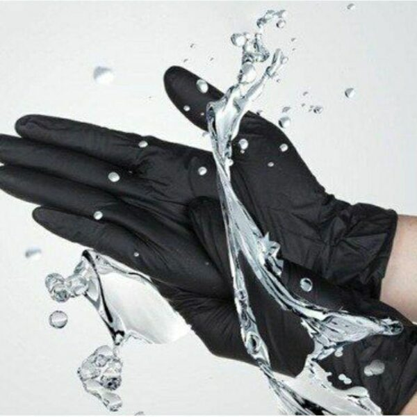 Перчатки нитриловые черные